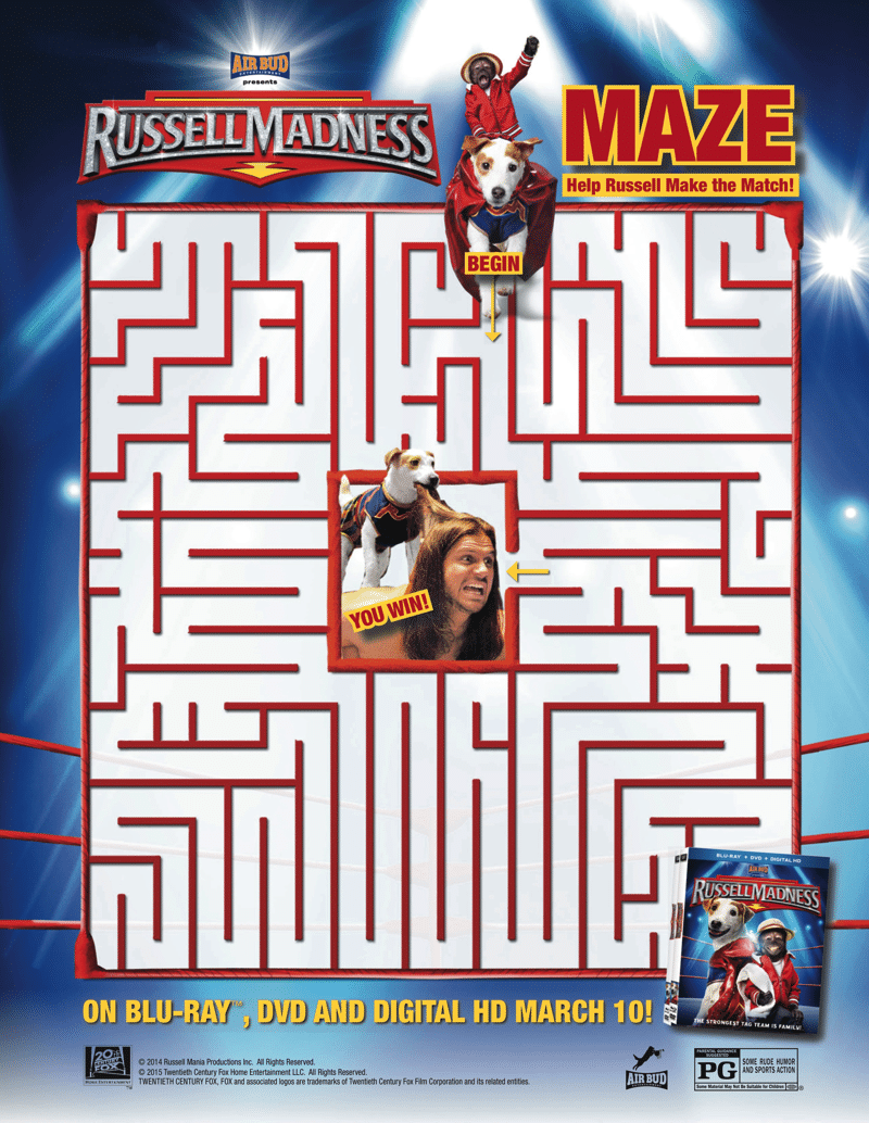 Russell Madness Maze Free Printable