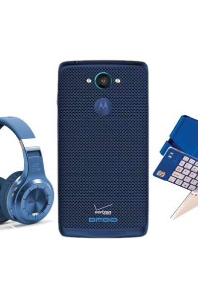 Go Blue Send Your Grad to College with DROID Turbo Sapphire Blue