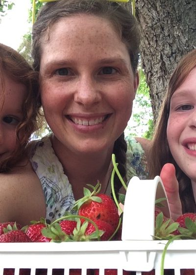Strawberry picking mommy and me monday