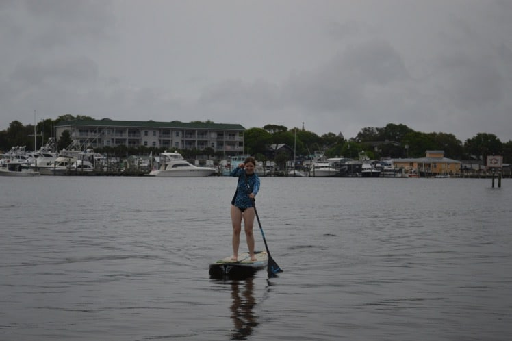 paddleboarding with coolibar