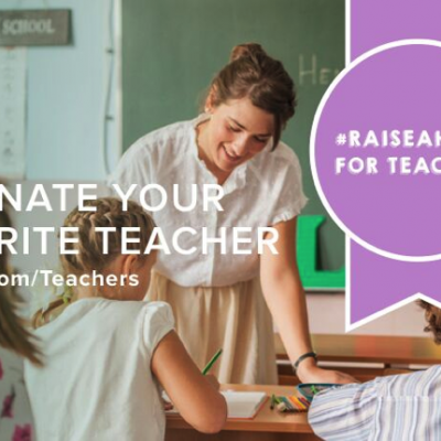 Raise a hand for teachers