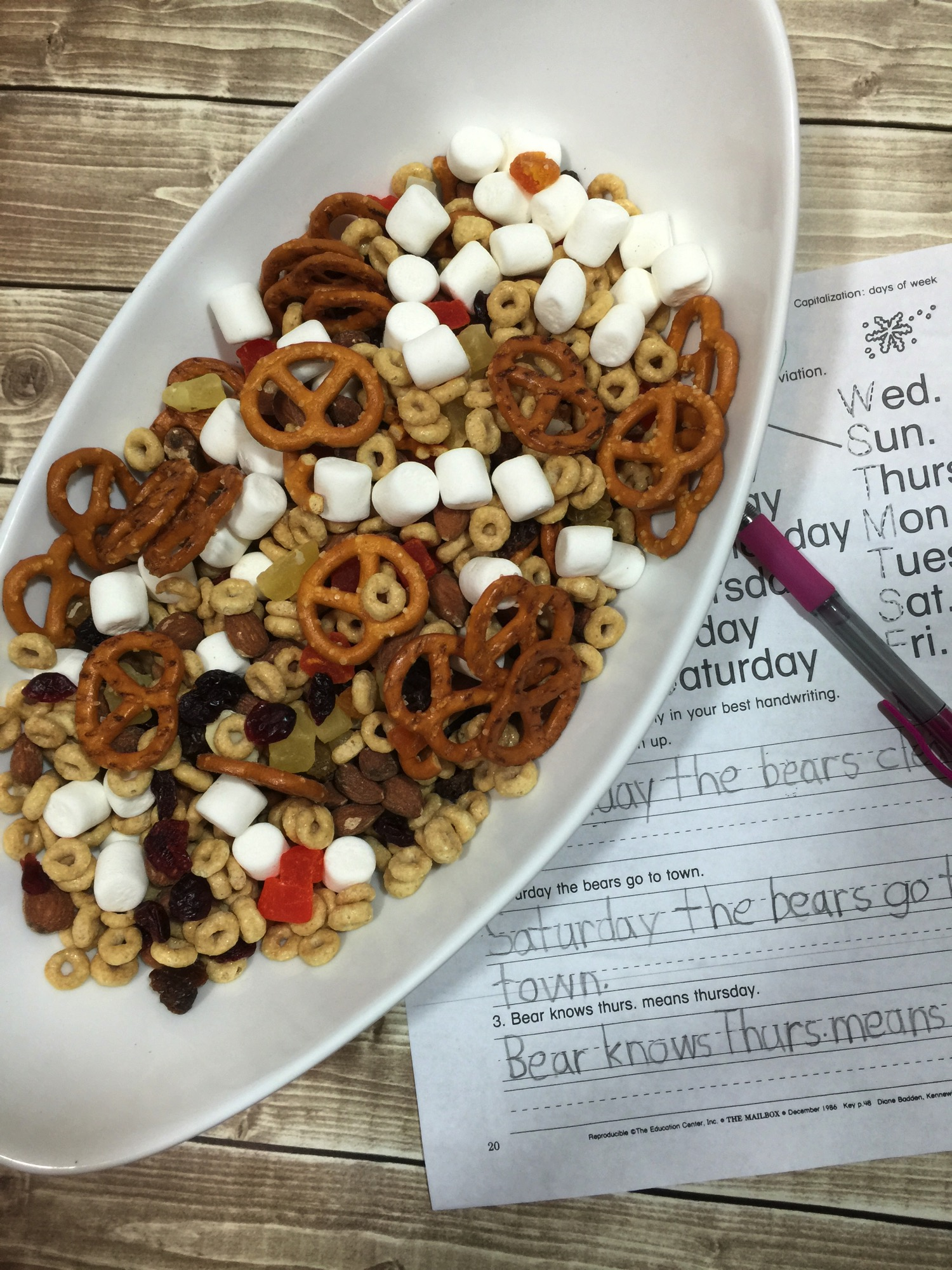 After school snack mix for hangry kids