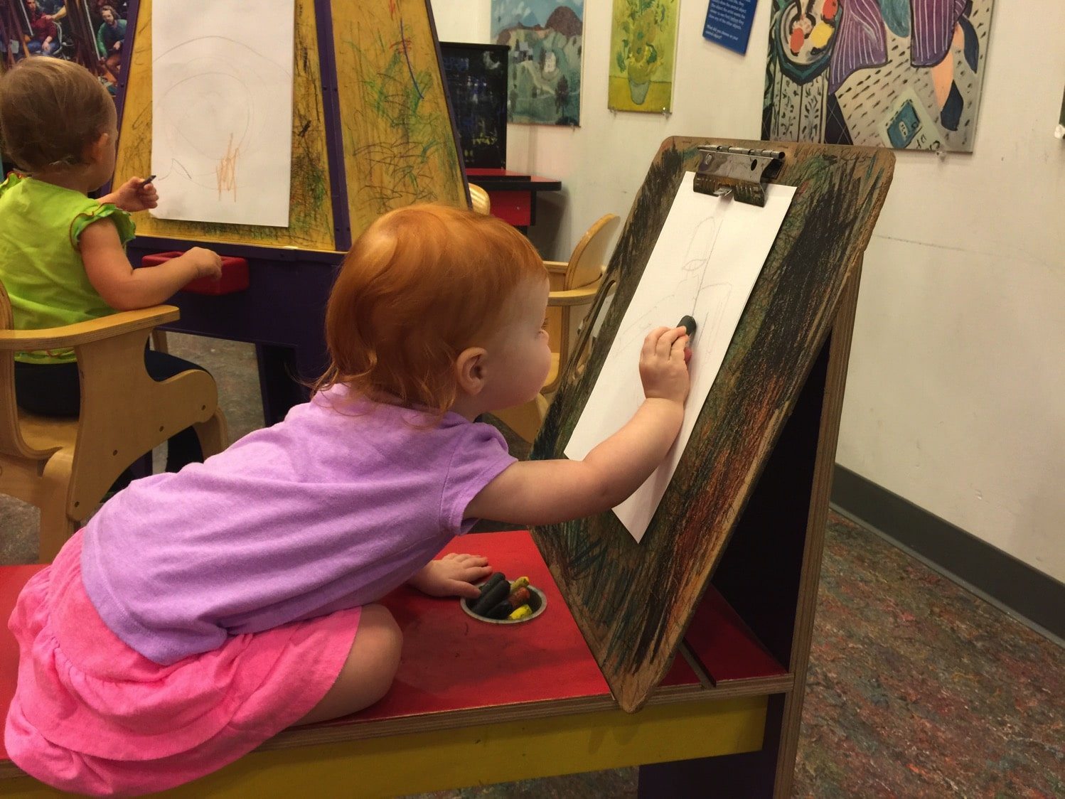 Coloring at the children's museum chattanooga