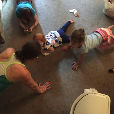 Push ups with mommy | Mommy and me monday
