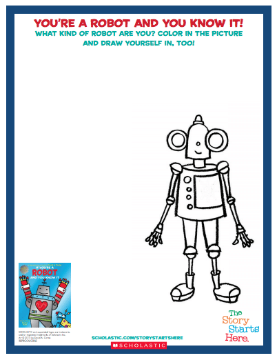 You're a robot and you know it free printable