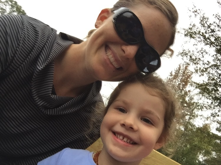 mommy and me monday on the hay ride