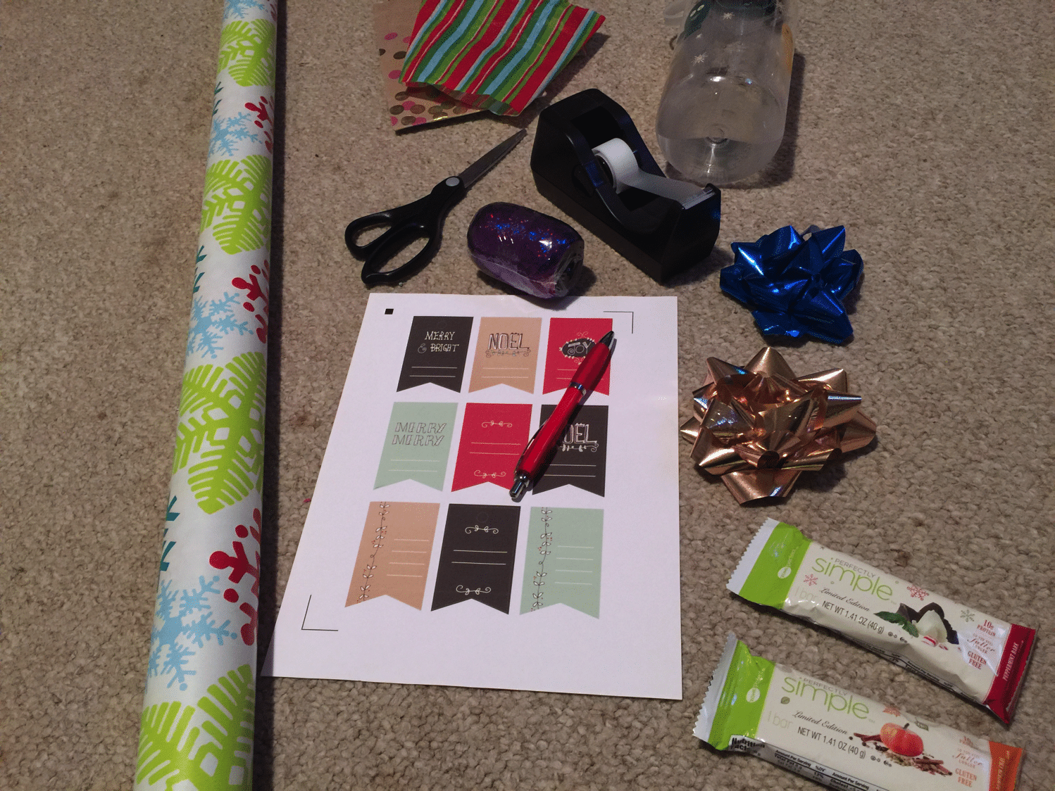 Present Wrapping Supplies list