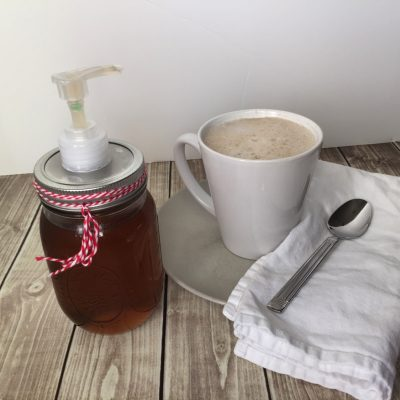 homemade cinnamon vanilla coffee syrup