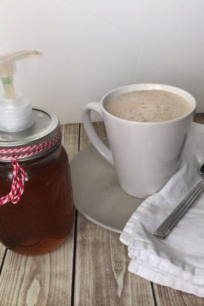 homemade cinnamon vanilla coffee syrup