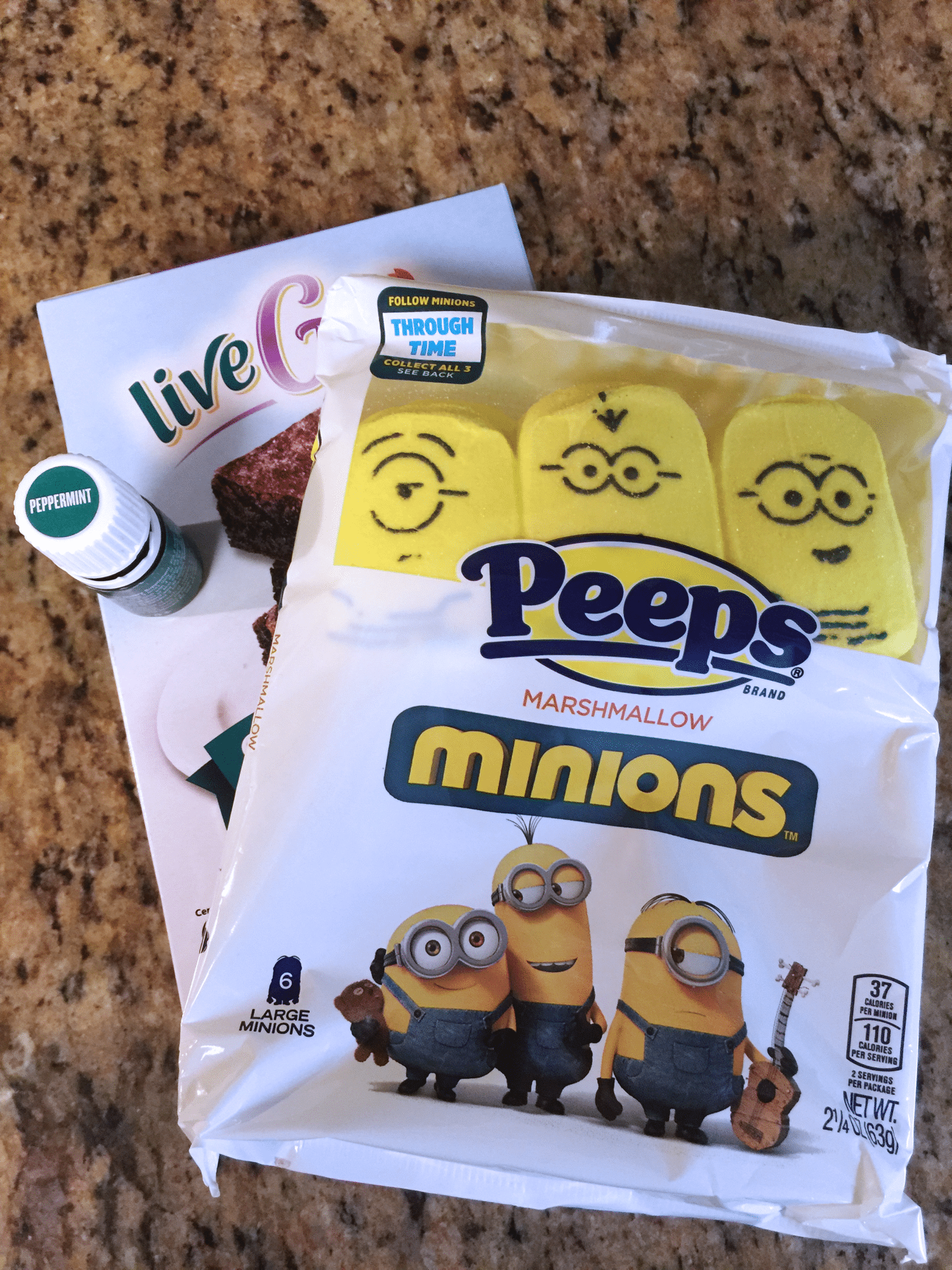 peppermint marshmallow brownies | Minions PEEPs Minions DVD giveaway