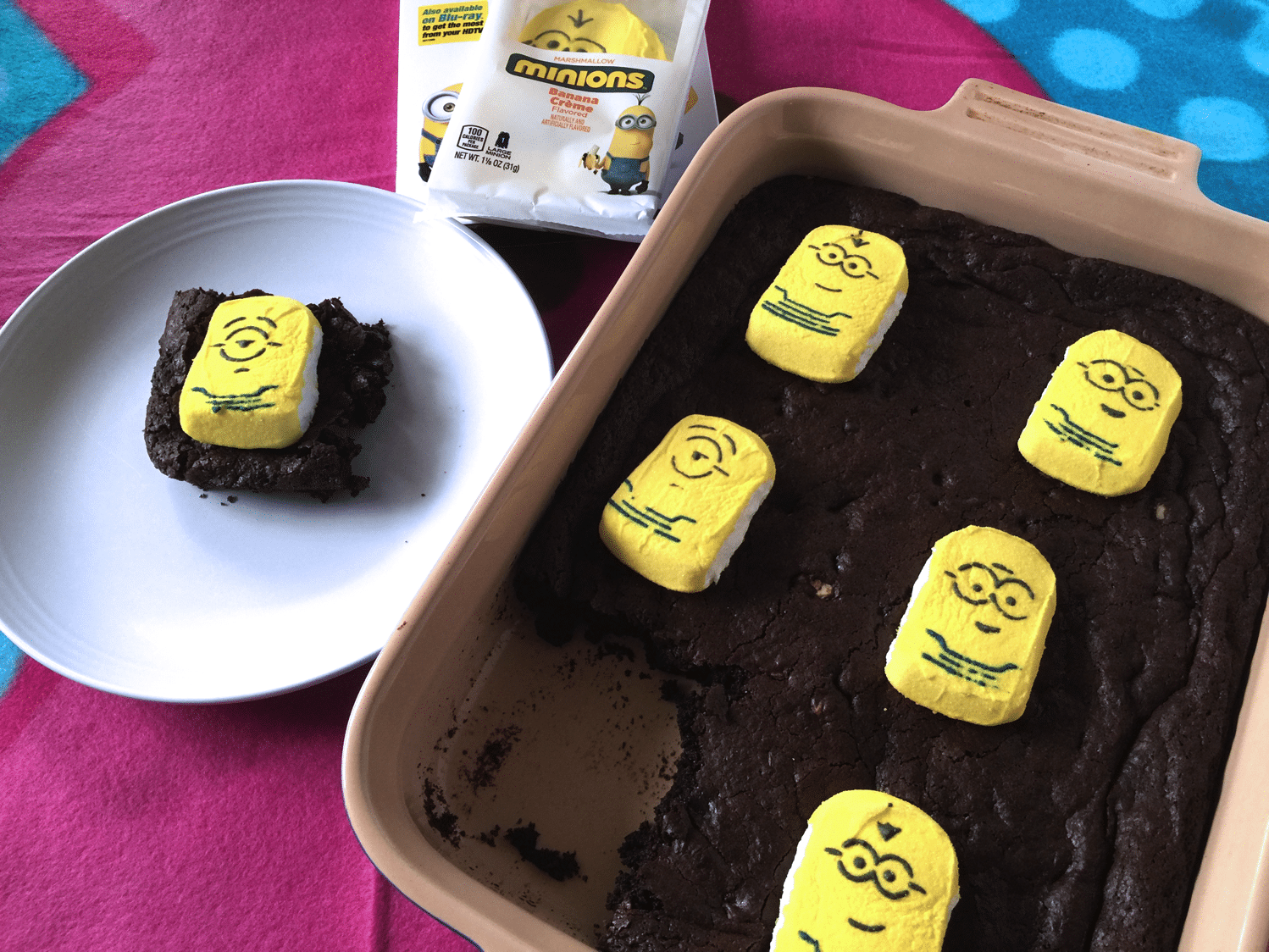 peppermint marshmallow brownies | PEEPS Minions dvd giveaway