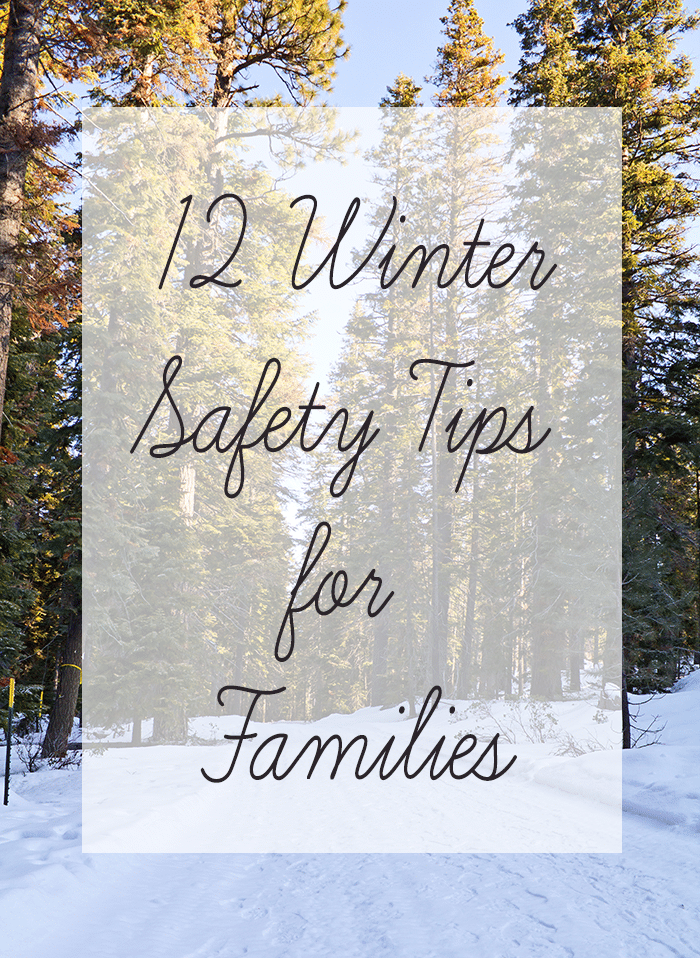 winter safety tips for families