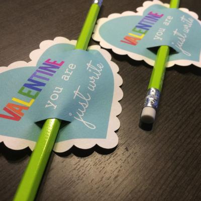 pencil valentine printable