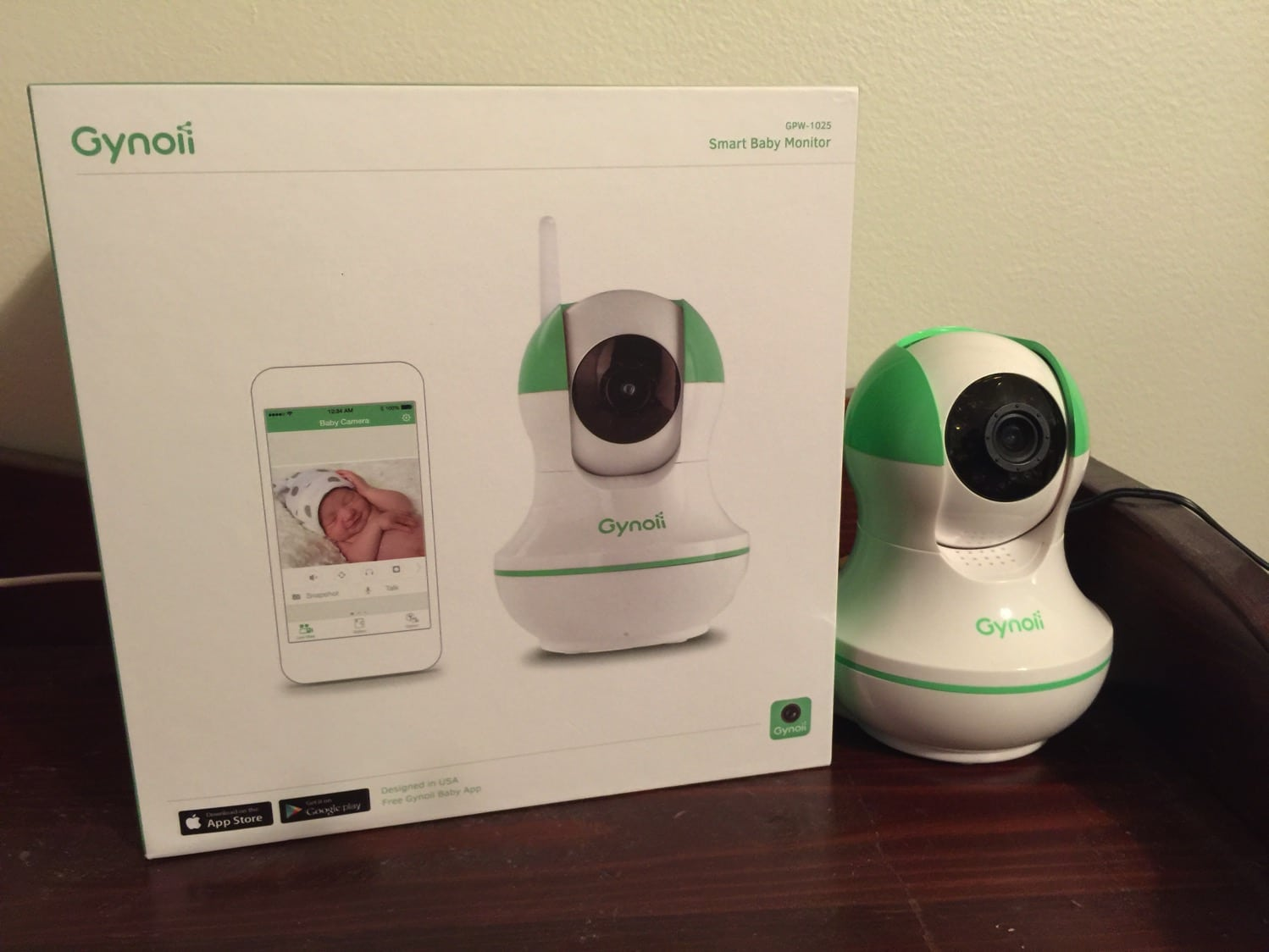 Gynoii WiFi Wireless Pan-Tilt Video Baby Monitor with HD