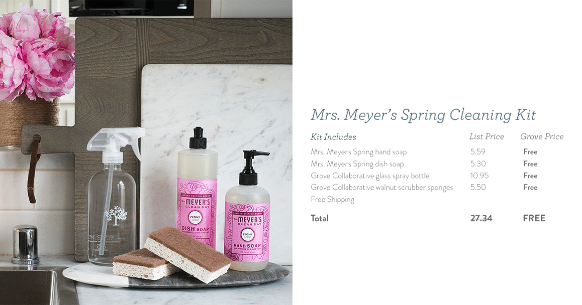 Mrs. Meyers Free Spring Products