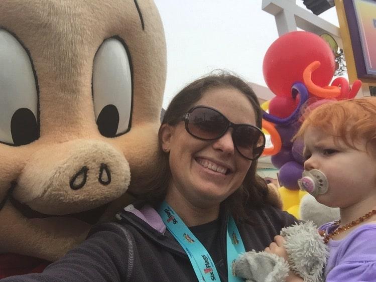 selfie with porkie pig