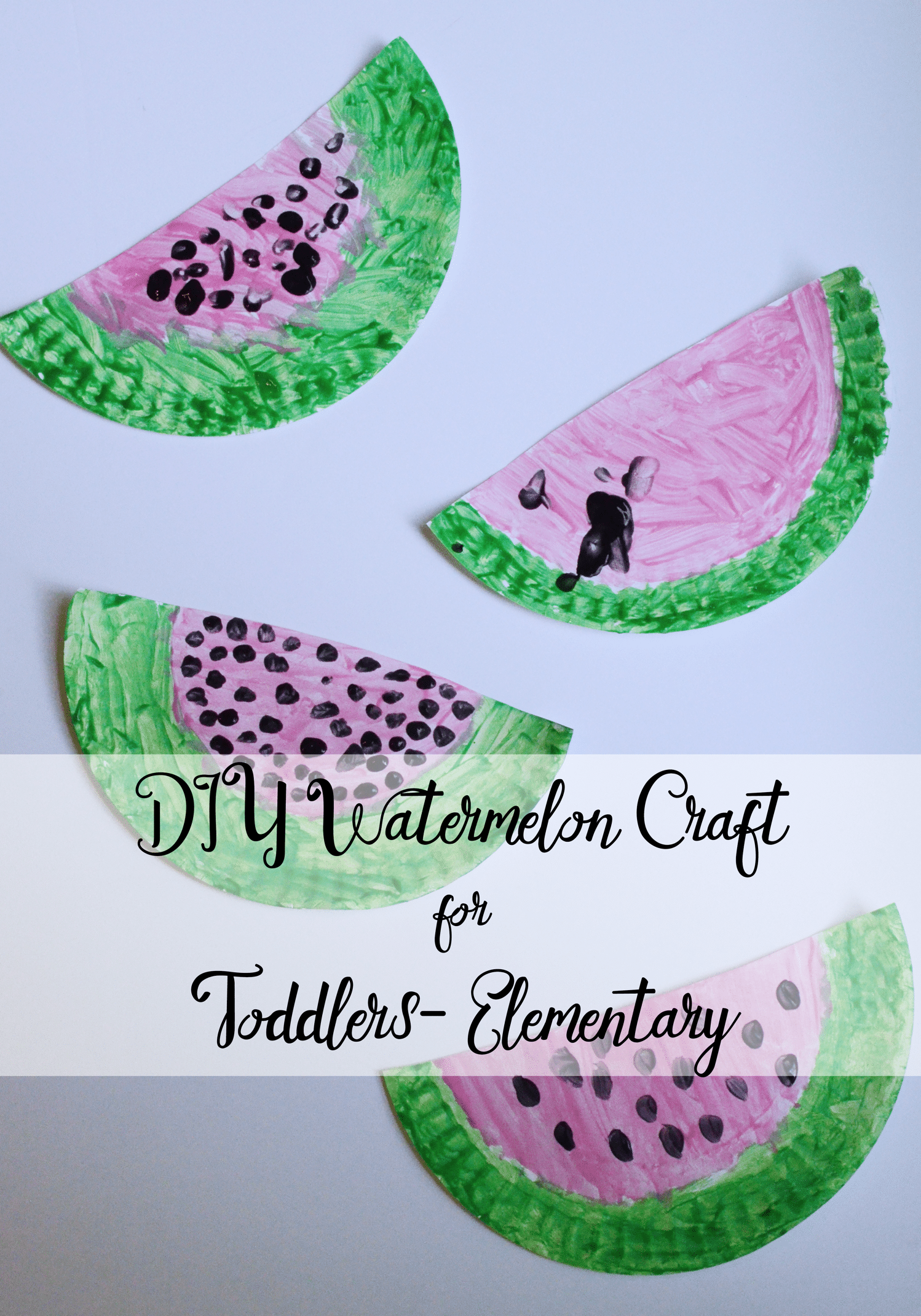 DIY Watermelon Craft For Toddlers