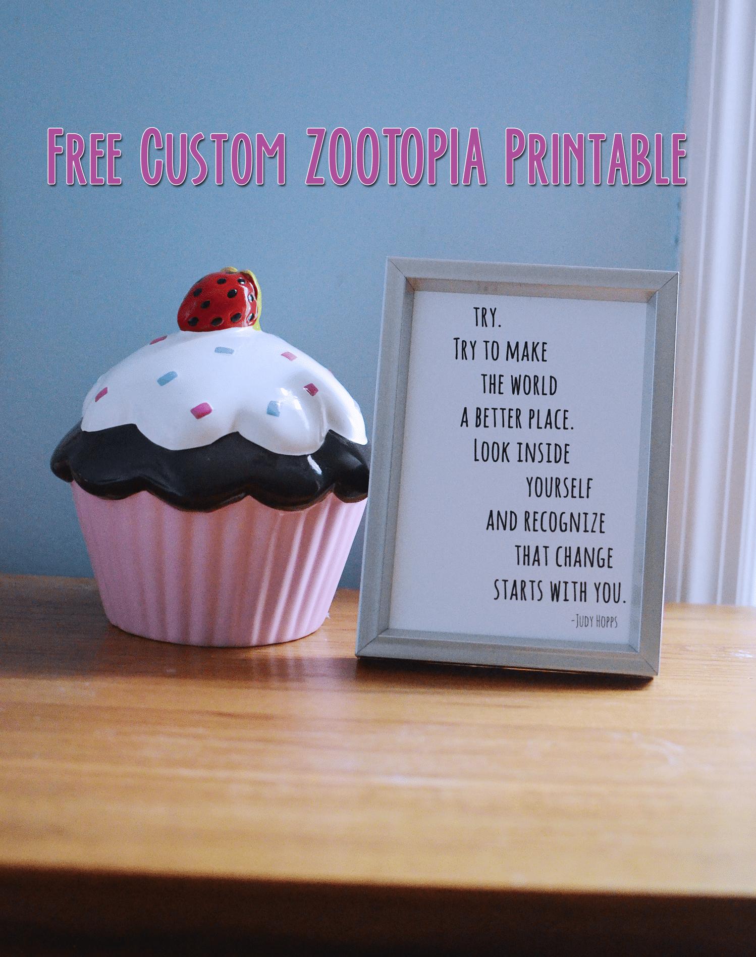 free custom judy hopps zootopia quote