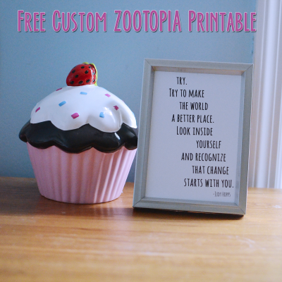free zootopia judy hopps printable