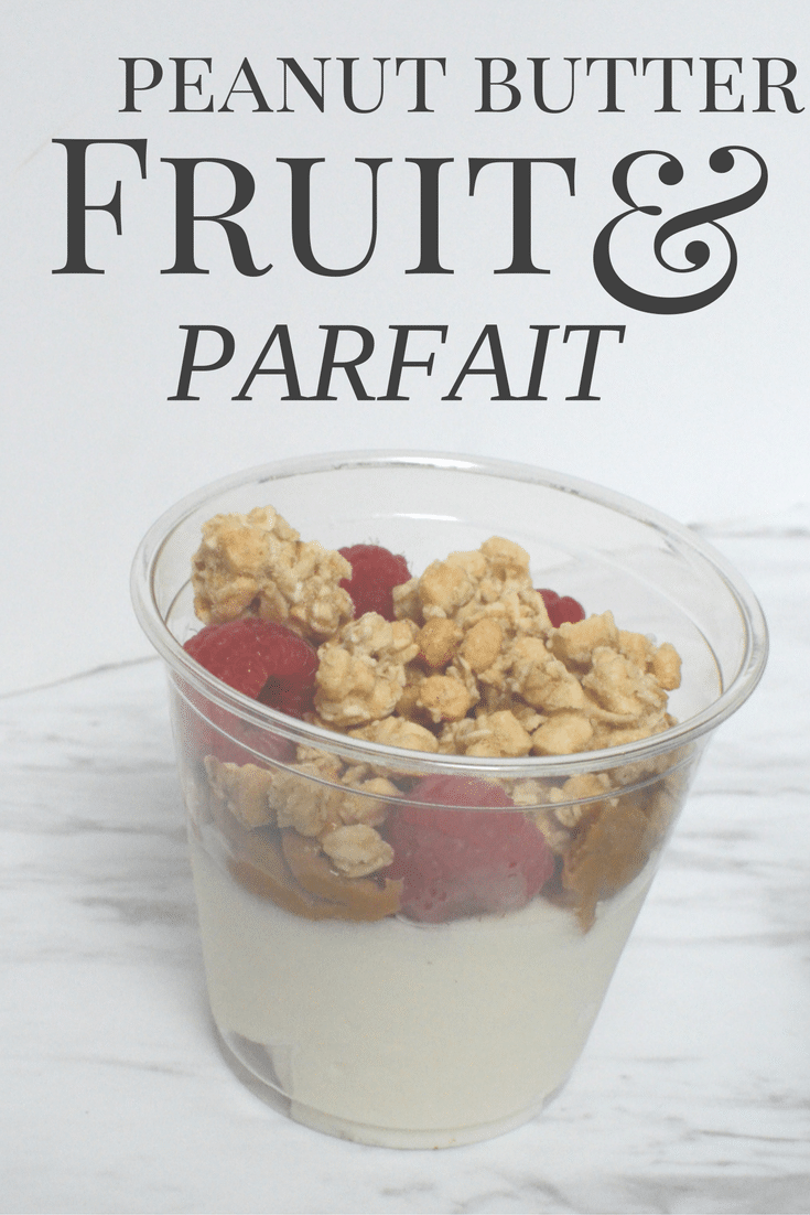 Peanut butter and fruit parfait pin
