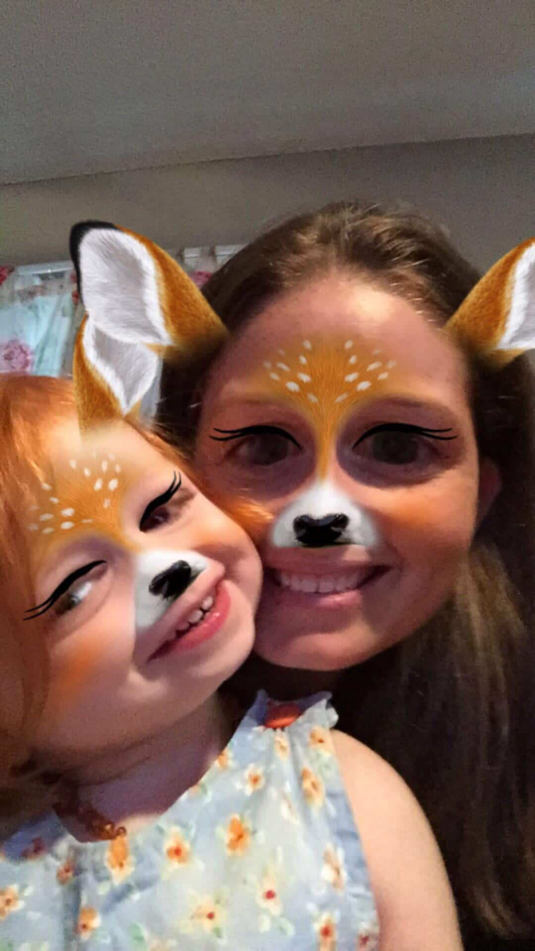 Mommy and Me Monday silly faces deer