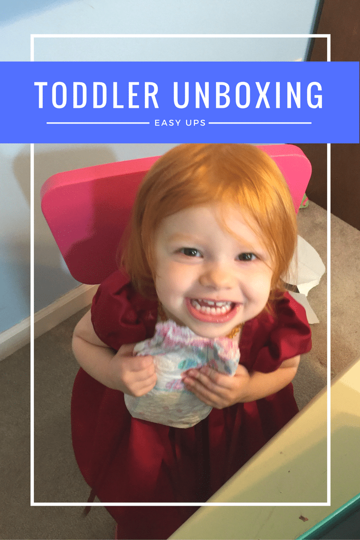 Toddler unboxing pin