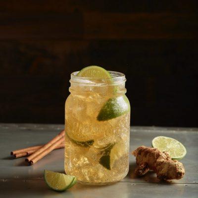 spiced cinnamon mule recipe in mason jar from hard rock cafe