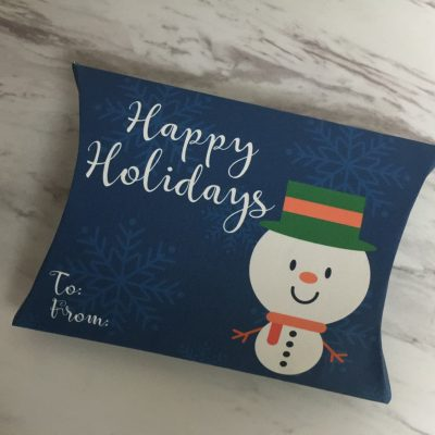 free christmas holiday gift pillow printable