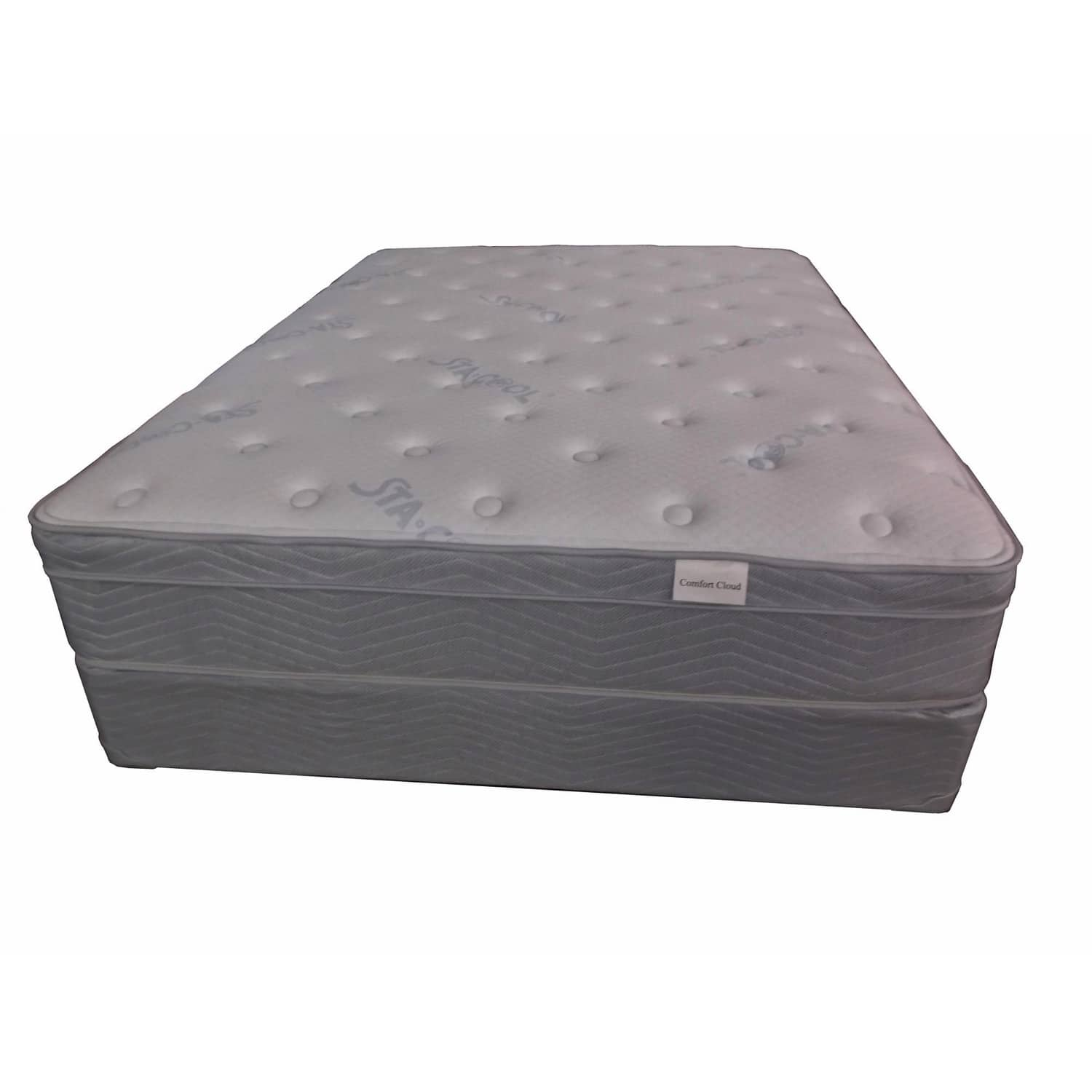 Therapedic Comfort Cloud Luxury Queen Mattress Set with Gel Memory Foam