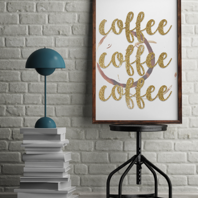 gold coffee coffee coffee free printable sign