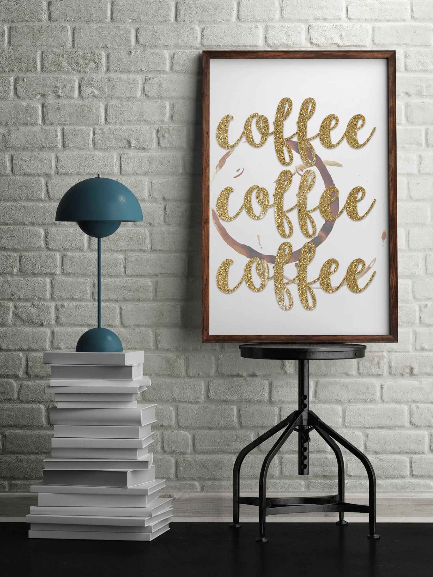 gold coffee coffee coffee printable sign free