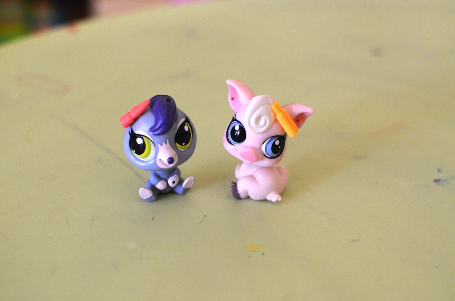 playing with the littlest pet shop