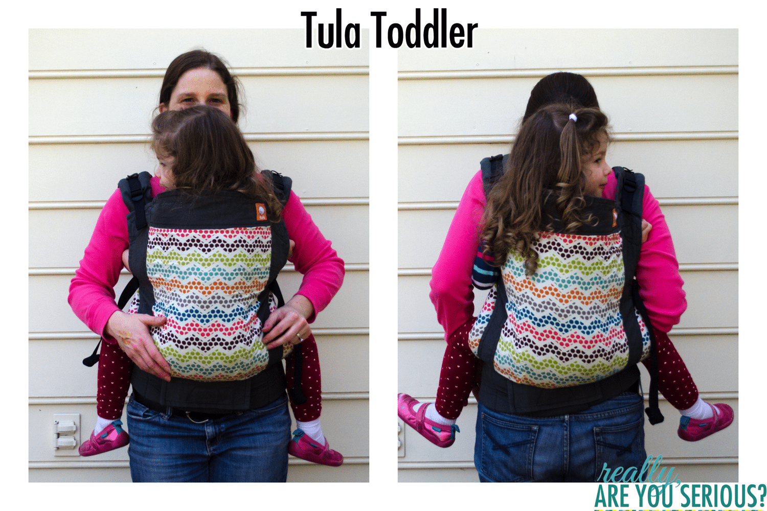 Tula Toddler Carrier front and back carry