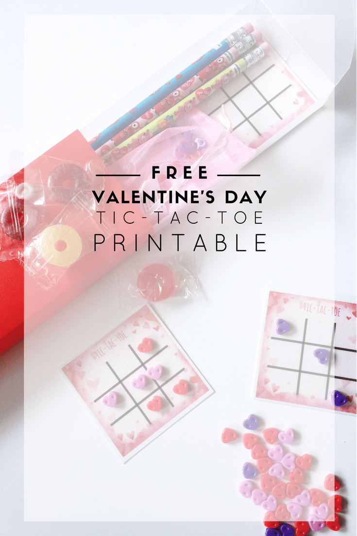image relating to Free Printable Tic Tac Toe Board known as Reusable Valentines with Cost-free tic-tac-toe printable and