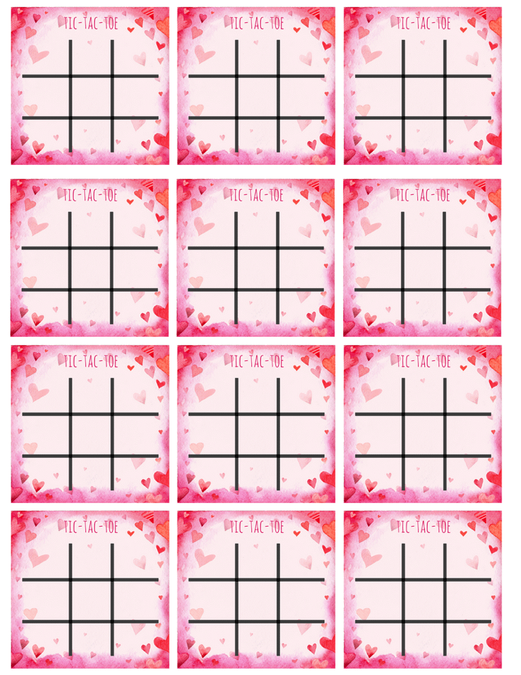 graphic relating to Free Printable Tic Tac Toe Board named Reusable Valentines with Totally free tic-tac-toe printable and
