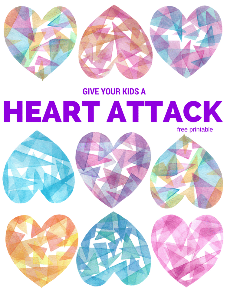 valentine's day heart attack free printable