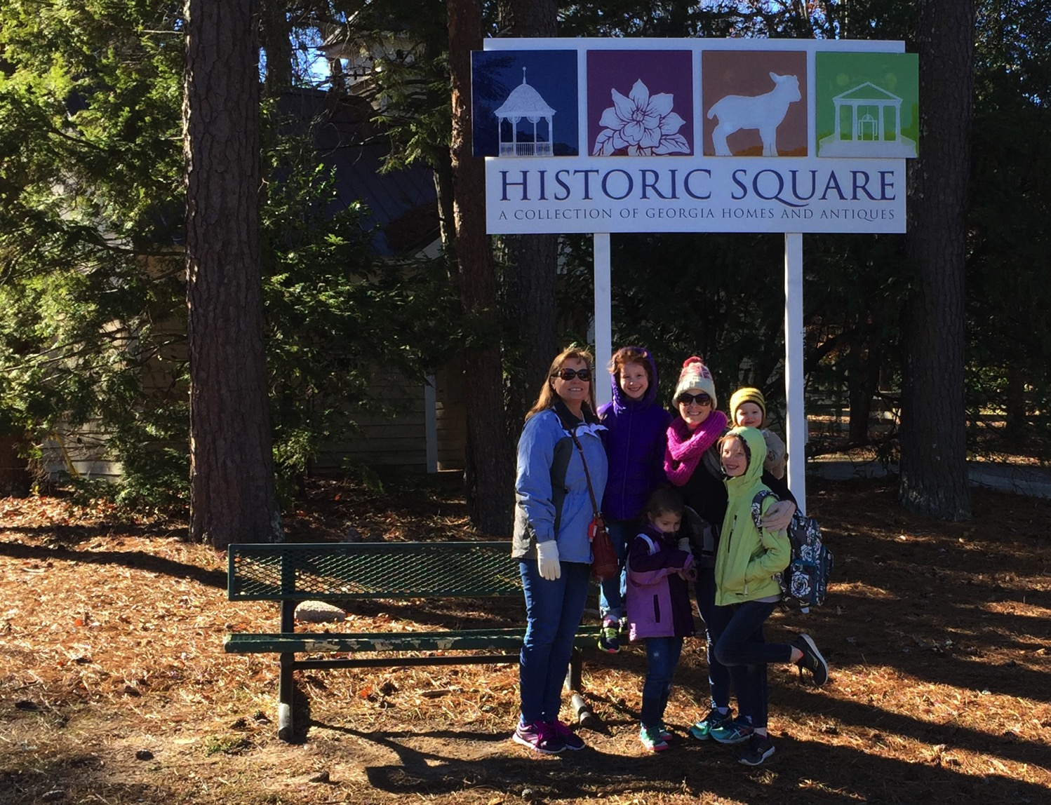historic square at stone mountain