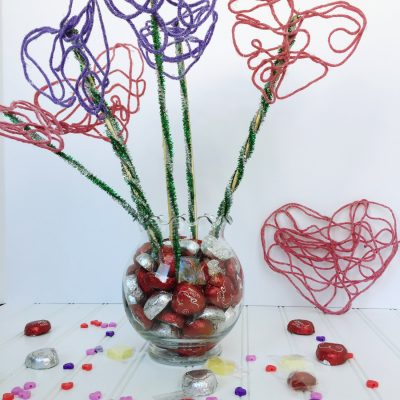creative galaxy yarn heart bouquet