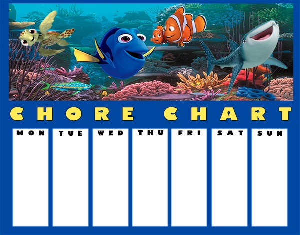 Finding dory printable chore chart 3