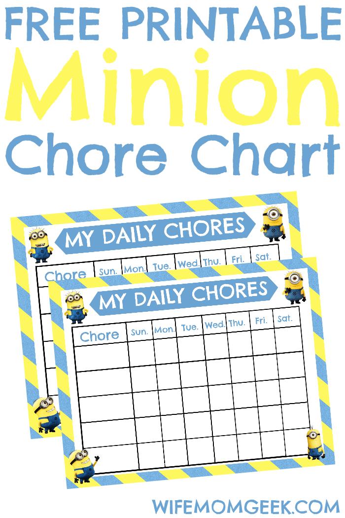 Minion chore chart pin