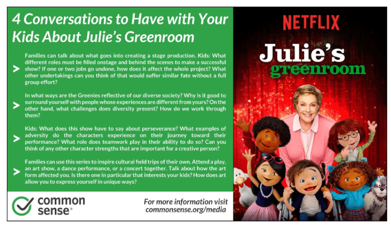 4 conversations to have with your kids about Julie's Greenroom