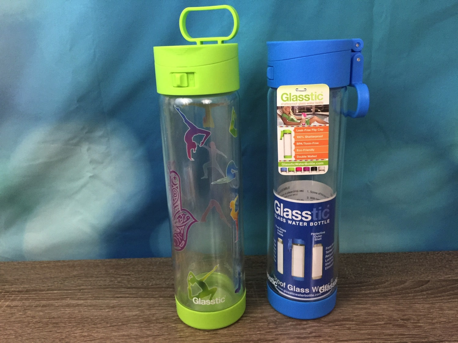 Glasstic shatterproof water bottle