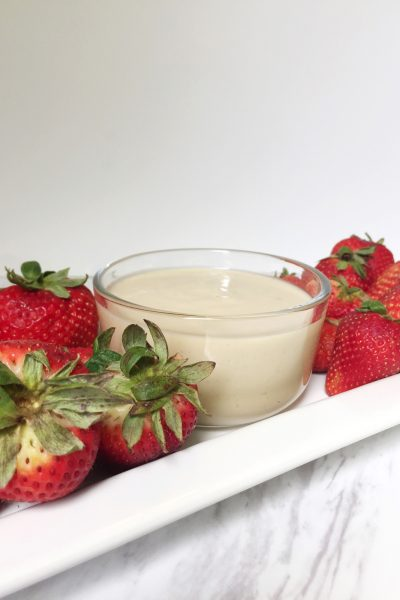 quick and easy three ingredient fruit dip