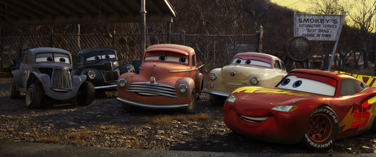 Cars3 Smokey and friends