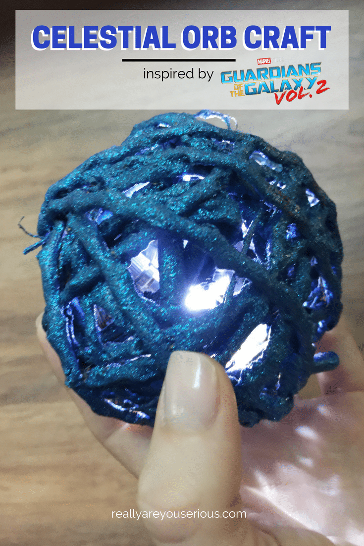 Celestial orb craft inspired by guardians of the galaxy volume 2