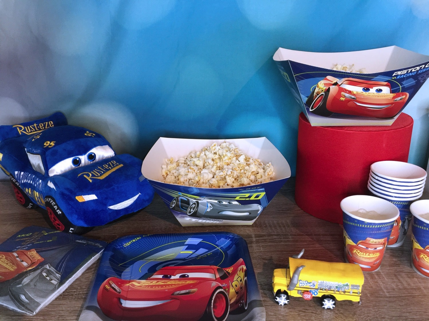 Cars 3 movie night table
