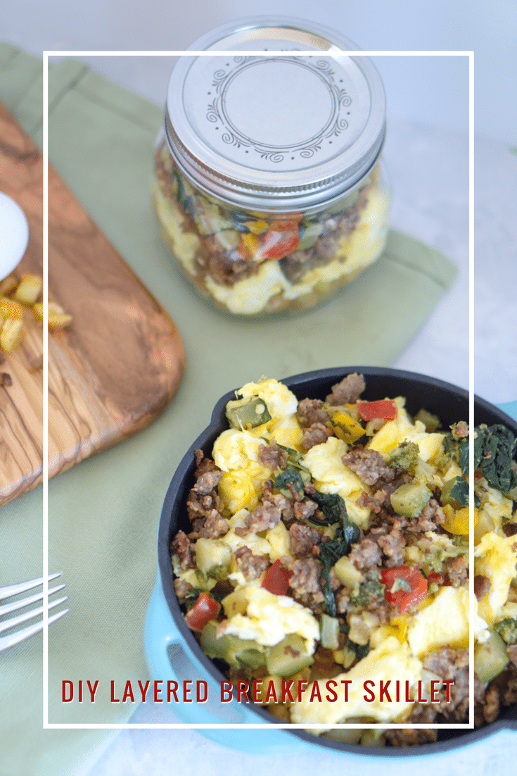 DIY Layered breakfast skillet