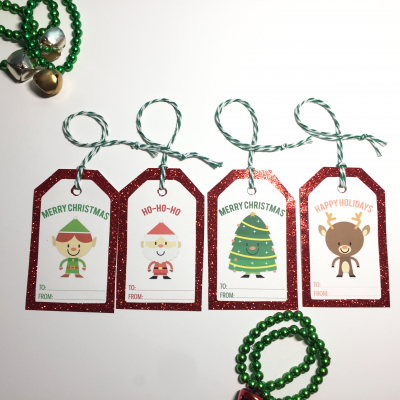 christmas gift tags printed with glitter paper2 copy