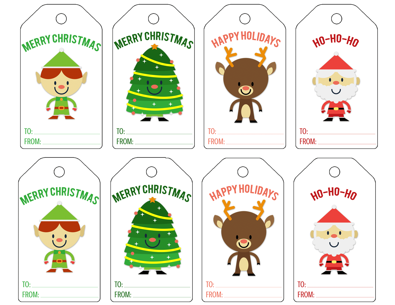 It's just a picture of Critical Printable Christmas Labels Pdf