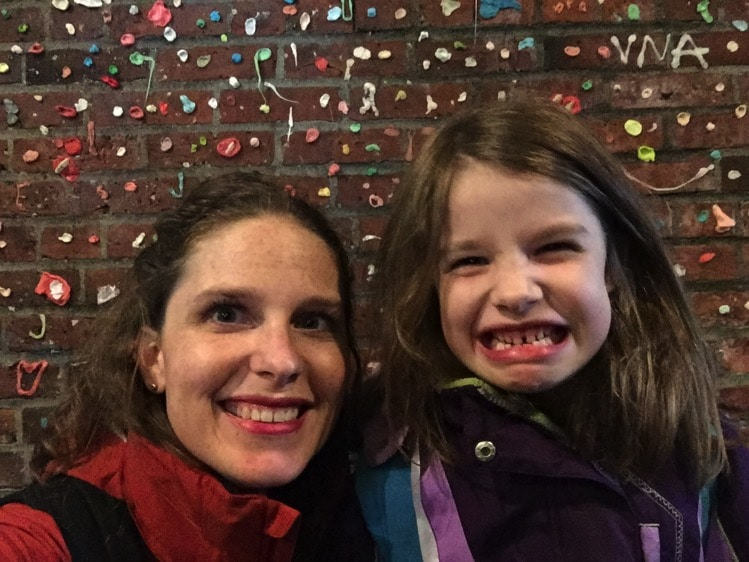 gum wall pike place seattle mommy and me monday